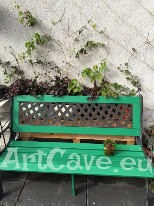 DIY trellis for climbing plants made of rope  | Art Cave