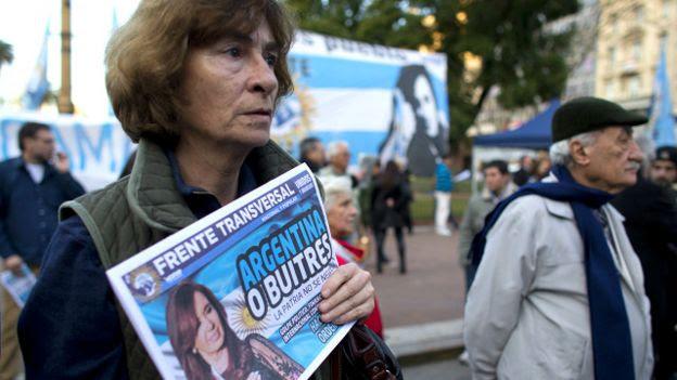 Protesta en Argentina contra los