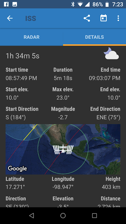 ISS Sighting Potential Tonight