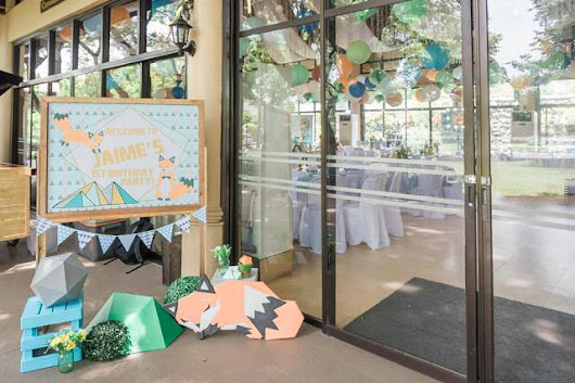 Jaime's Geometric Fox Themed Party – 1st Birthday | Party Doll Manila