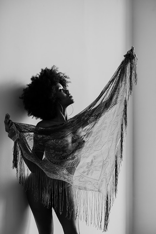 Nude with Fringed Shawl | Christa Meola Pictures Inc.