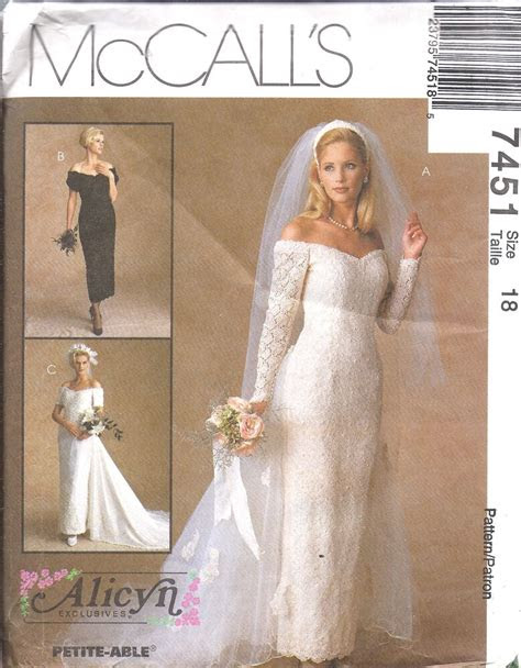 uncut vintage mccalls sewing pattern wedding bridal