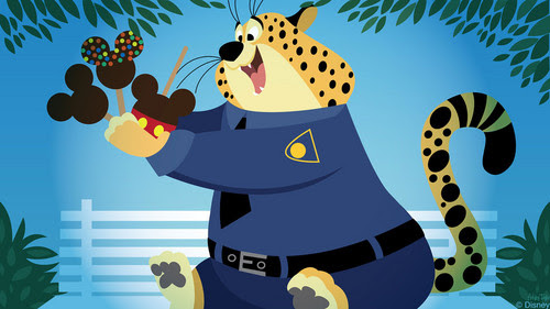Disney 39 S Zootopia Gambar Disney Doodle Clawhauser Finds Sweet Treats Hd Wallpaper And