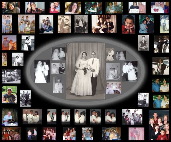 25th Wedding Anniversary Gift For Parents: Photo Collage: 25th Anniversary Collage