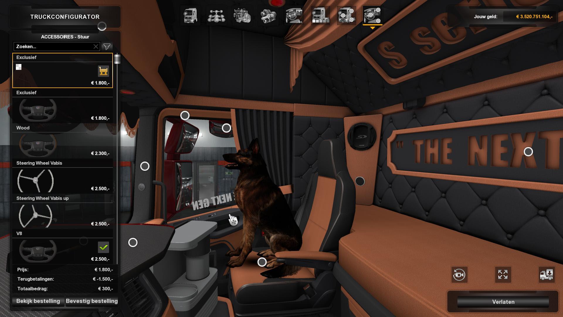 Scania S Nextgen Holland Interior 1 32 Interior Mod Euro