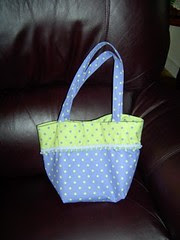 Purple Polka Dot Bag