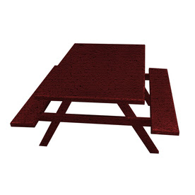 Shop Ofab Cast Aluminum Rectangle Picnic Table with Benches at Lowes.