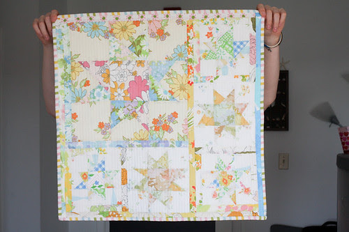 Vintage Sheet Wonky Star Quilt by jenib320