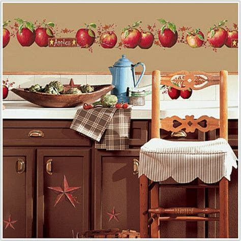 country apples wall stickers  big decals stars berry