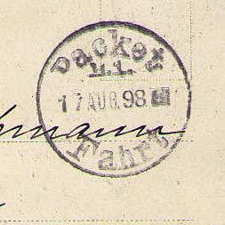 Packetfahrtstempel, Berlin anno 1898