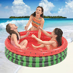 Nomeni Inflatable Watermelon Swimming Pool Round Garden Party Outdoor Gift For Kids