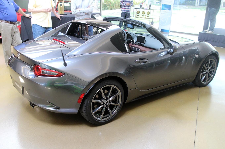 2017 Mazda MX 5 Miata RF side rear view - Motor Trend