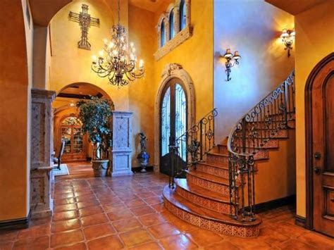 decorating  mexican talavera tile foyer staircase