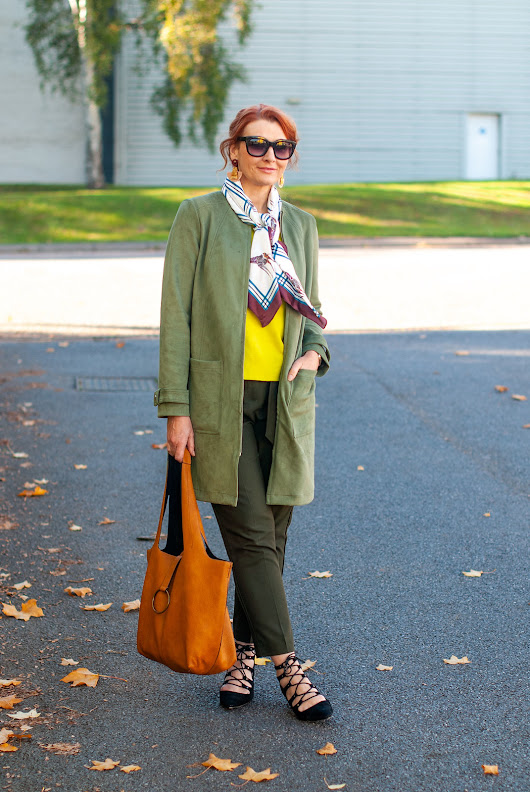 Styling Warm Shades of Green With a Giraffe Print - Not Dressed As Lamb