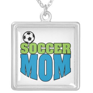 soccer mom text graphic zazzle_necklace