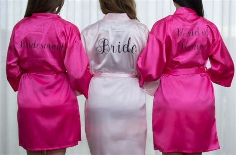 PERSONALIZED BRIDAL PARTY Women's SILK Kimono Robes