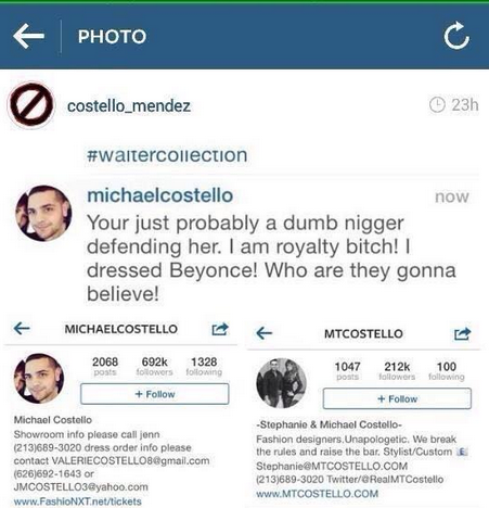 michael costello racist that grape juice Beyonce Fans Call On Star To Cut Ties With Racist Fashion Designer