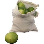 ORGANIC COTTON Reusable PRODUCE BAGS - 3 Medium | Organic Cotton Mart