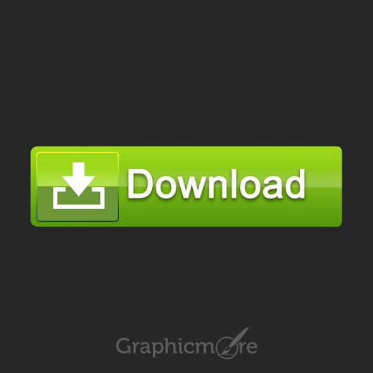 Creative Green Download Button Free PSD File