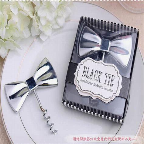 Wholesale 100pcs Wedding favor Black Tie Bottle Opener Bow