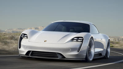 Porsche shows off all-electric Tesla-fighting Mission E concept
