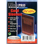 """Ultra Pro Card Supplies 2 5/8"""" x 3 5/8"""" Soft Card Sleeves [100 Count]"""