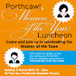 Poster Design for Porthcawl Women of the Year