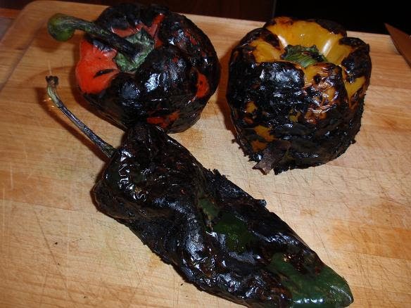 charred roasted peppers