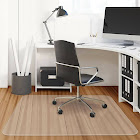 Gymax 47'' x 47'' PVC Chair Floor Mat Home Office Protector For Hard Wood Floors
