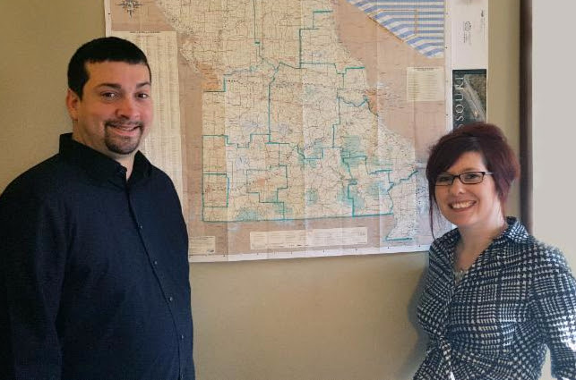 Dustin Allen and Jenni Miller from the Missouri Interagency Council on Homelessness