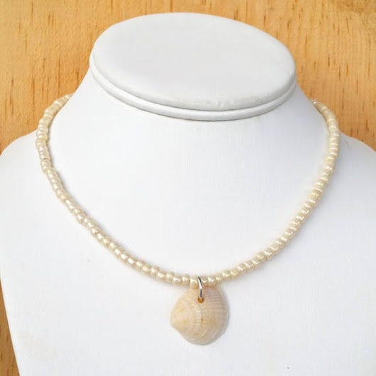 sea shells ocean necklace nautical jewelry shell necklace