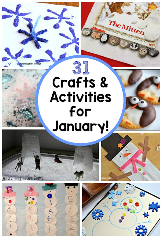 31 Days of Kids Activities for January! Free Winter Activity Calendar! - Where Imagination Grows