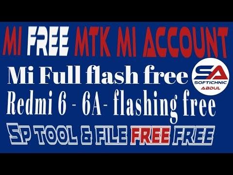 Redmi 6- 6A- Note 8 Pro flashing via SP Flash Tool free | mi account free tool done by softichnic