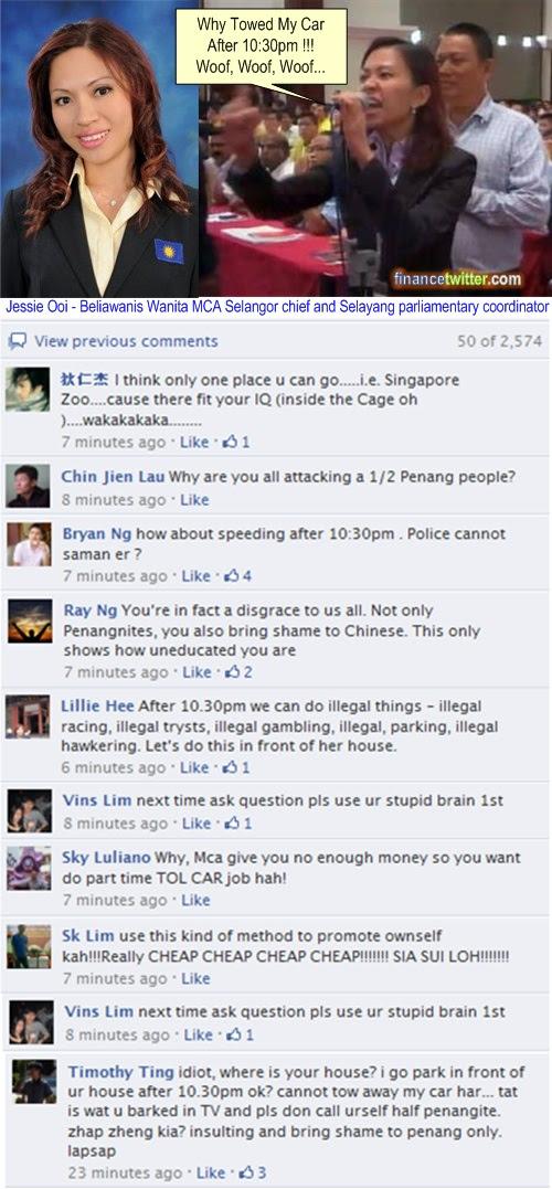 MCA Selayang Jessie Ooi Facebook