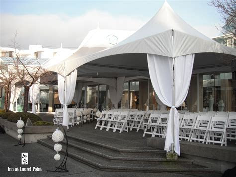 Wedding Ceremony on our Outdoor Patio   Wedding Photos at
