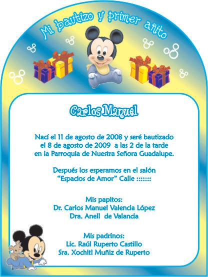 83 Invitaciones De Baby Shower De Mickey Mouse Bebe Para