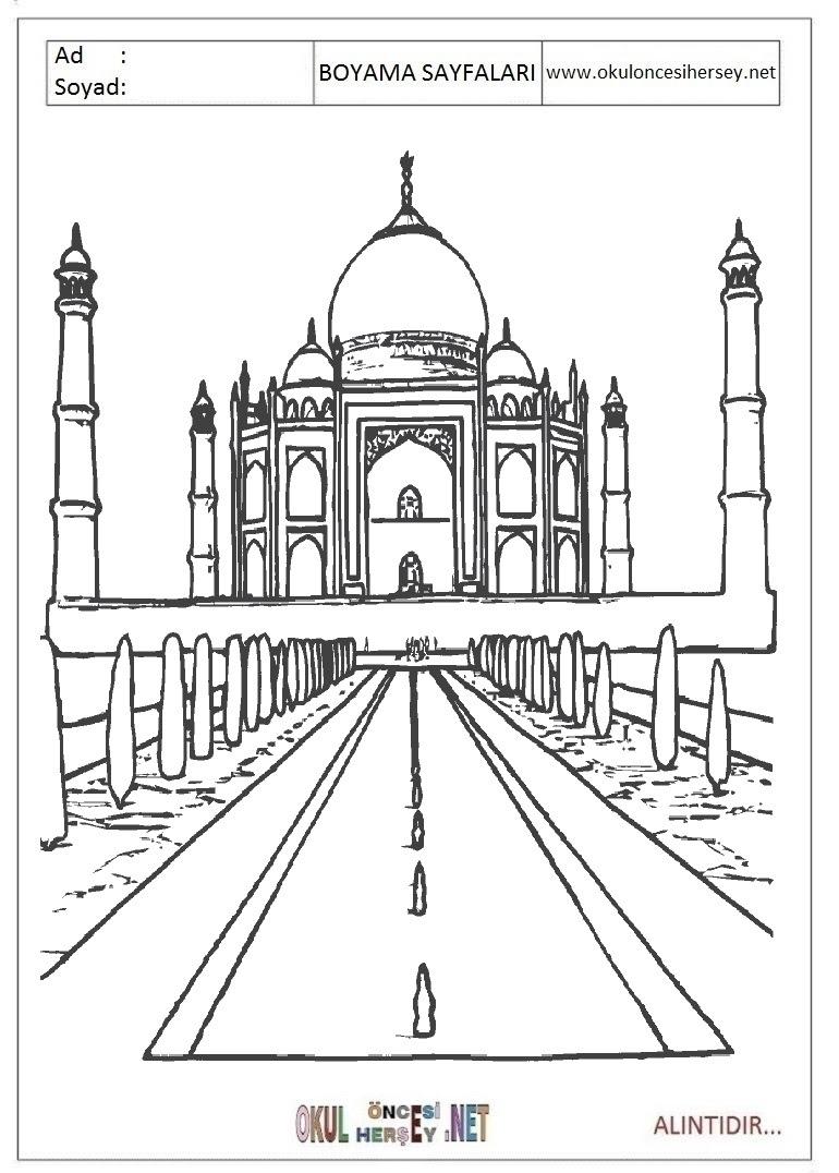 Cami Boyama Sayfaları