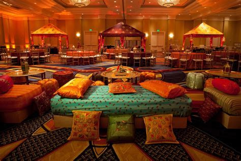 A WEDDING PLANNER: Sangeet wedding hall decorations