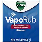 Vicks VapoRub Cough Suppressant Topical Analgesic Ointment 6 oz. Jar