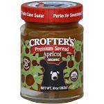 Crofters Apricot Organic Premium Spread, 10 Oz (Pack of 6)