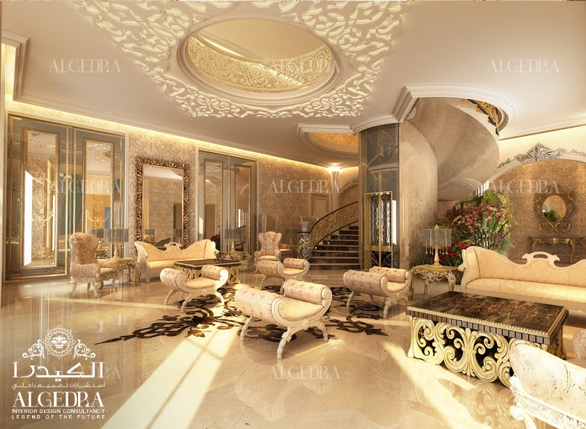 Villa Entrance Interior Design - Lobby Design by Algedra