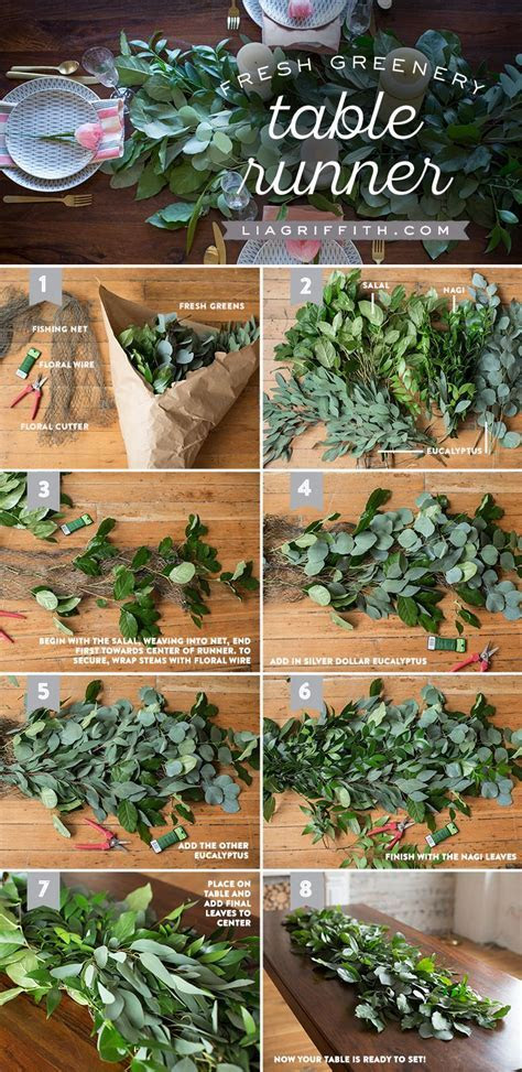 How to Make a Fresh Greenery Table Runner   Table Decor