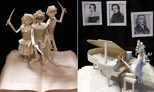 Pop-up art: Sculptor creates stories that literally jump from the page with intricate cut-outs of characters