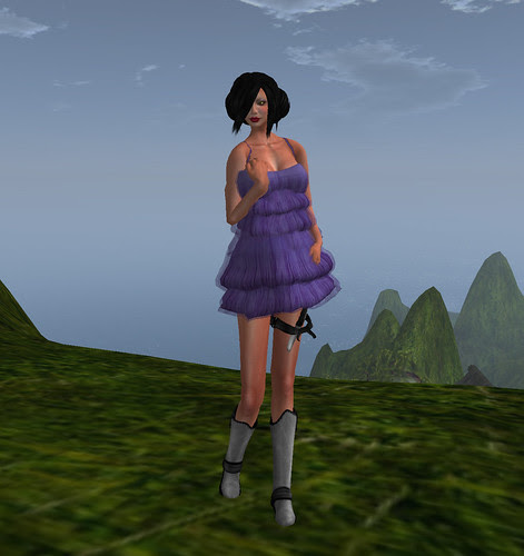Violet short dress