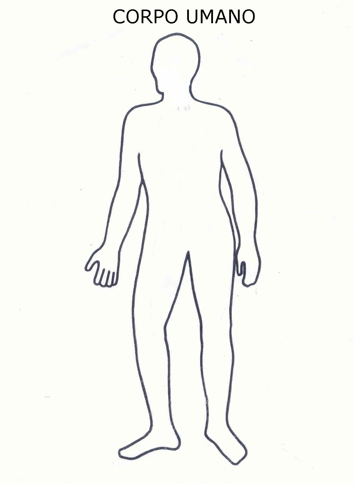 Corpo Umano Disegni Per Bambini Da Colorare
