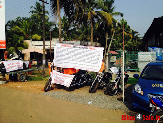 Harley Davidson Owners Protesting Outside Kochi Showroom
