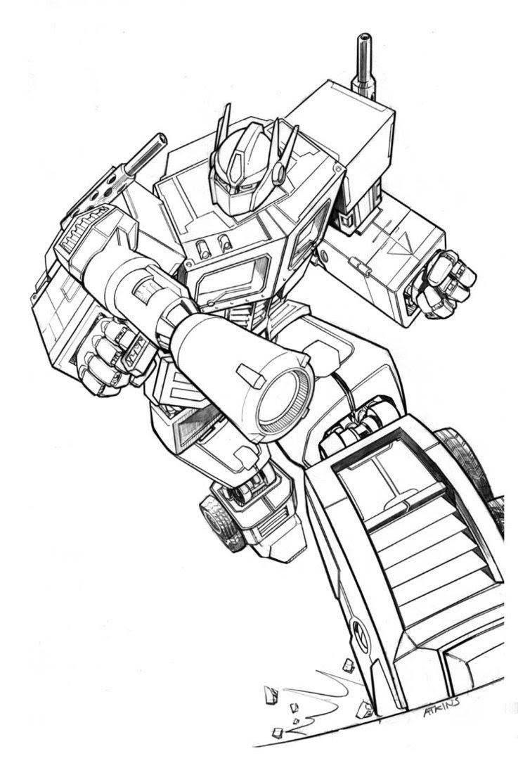 Transformer 4 Optimus Prime Coloring Page