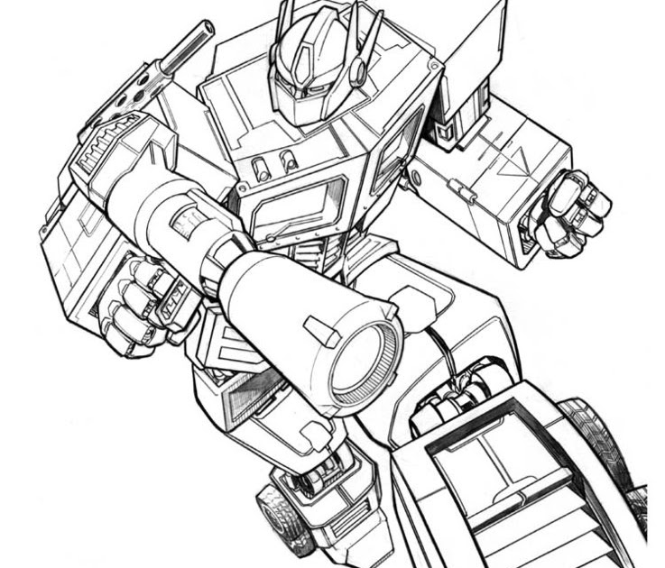 Transformer 4 Optimus Prime Coloring Page