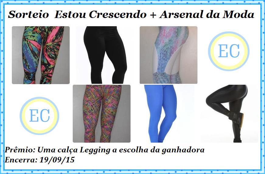 Sorteio em no blog Estou Crescendo em parceria com Arsenal da Moda
