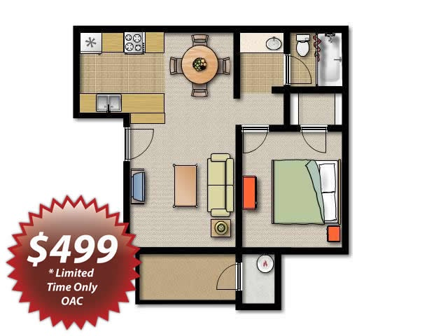 One bedroom apartments bill house plans for I bedroom apartment